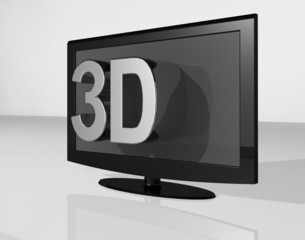 3DTV chrome large text