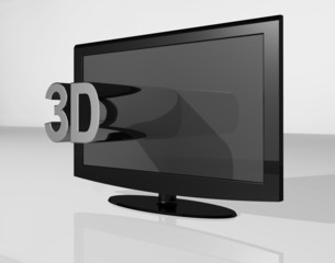 3D TV chrome small text