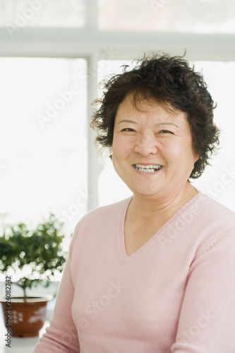 Chinese woman smiling