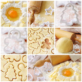 Baking ingredients for shortcrust pastry