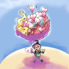 San Valentino palloncini cuore
