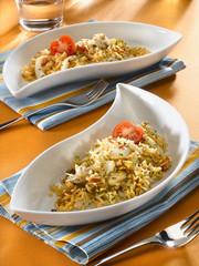 riz pilaf à la seiche