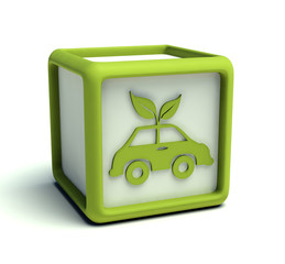 Eco green car cube