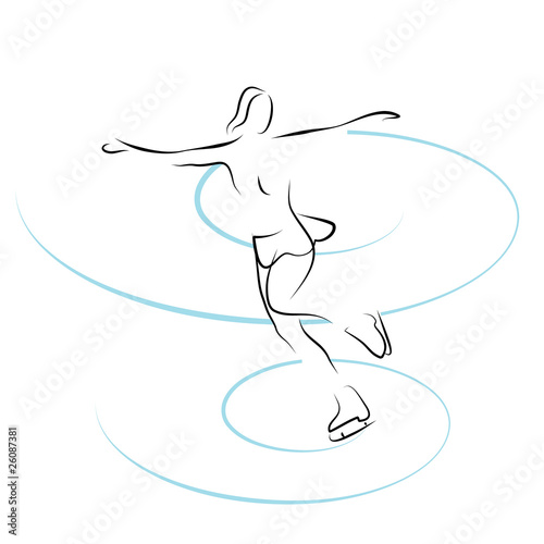vector illustration with figure skating