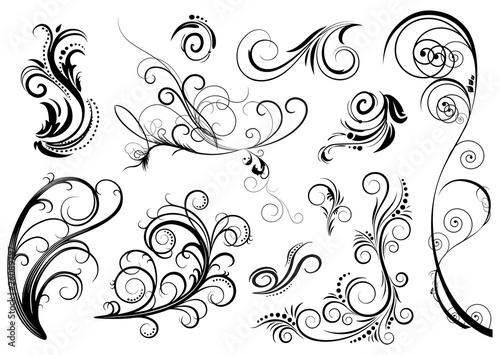 set di decorazioni floreali - 26089797