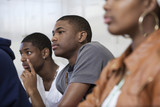Students listening in classroom