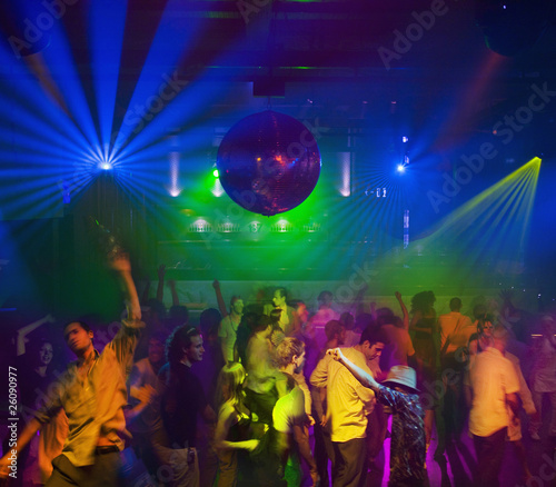 People dancing in nightclub