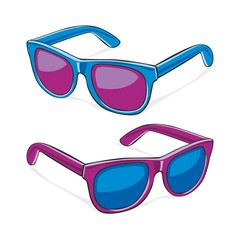 fully editable vector illustration of sun glasses