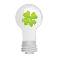 eco lamp with clover