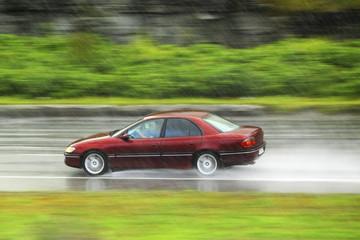 driving at rain