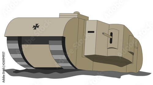 K-Wagen ( aka Grosskampfwagen ), WW1 German supertank - 26094937
