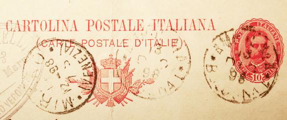 cartolina postale antica