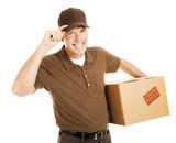 Polite Delivery Man Tips Hat poster
