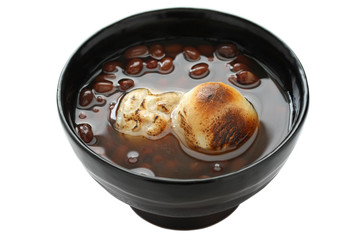 A Bowl of Red Bean Sweet Soup with Rice cake