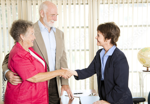 Seniors Meeting Financial Advisor