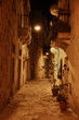 Maltese street at night