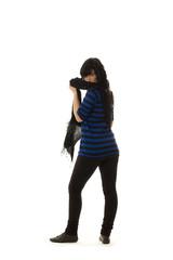 Frau mit Schal