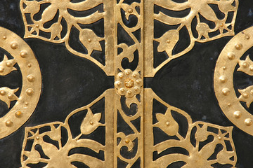 Ornamented door in Kiev Lavra, Ukraine