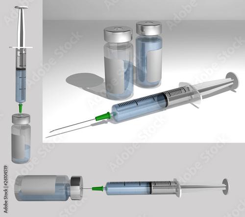 syringe assortie