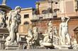 Leinwanddruck Bild - Fontana Pretoria di Palermo