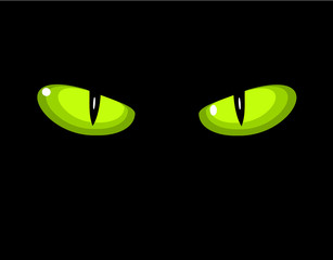 Green wild cat eyes