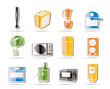 Simple Kitchen and home equipment icons
