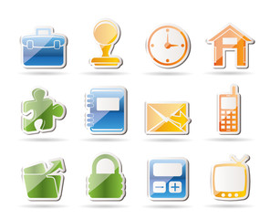 Simple Business and office icons - vector icon set