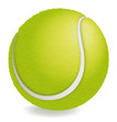 Tennis ball smiling