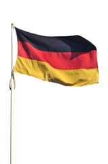 Bandiera della Germania isolata su sfondo bianco