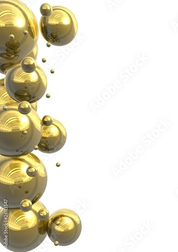 Gold bubbles background
