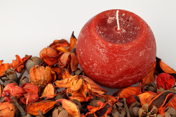 aromatic candle and fragrances