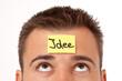 Haftnotitz auf der Stirn - Idee