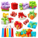 Fototapety Gift boxes collection