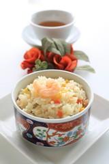 Chinese cuisine, shrimp fried rice