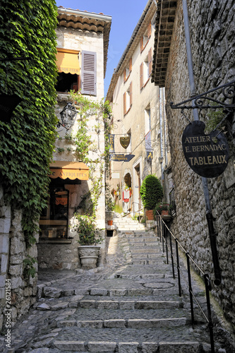 Poster Narrow lane in St Paul De Vence