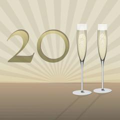 2011 flûtes de champagne, vecteur