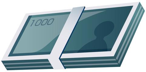 1000円札の札束
