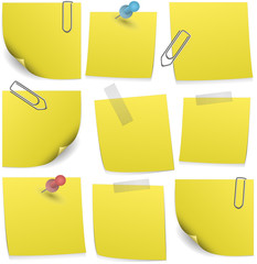 Collection of post it notes, vector