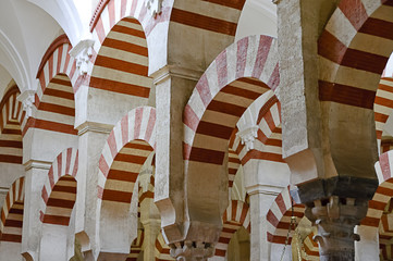 Inside the Mezquita of Cordoba, Spain
