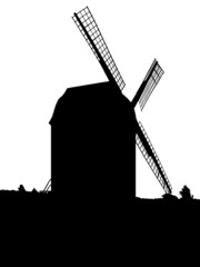 Windmühle (Schattenriss) - windmill (silhouette)