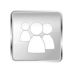 Button Community silber