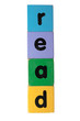 read in text on toy blocks