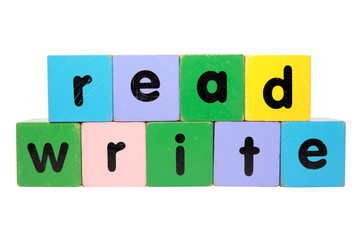 read and write in toy blocks