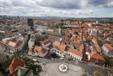 Fototapety Aerial view of Zagreb, the capital of Croatia