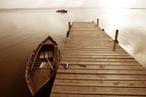 Fototapety Albufera lake wetlands pier in Valencia Spain