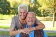 Älteres verliebtes Senioren Paar Portrait.