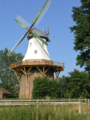 The old white German windmill.