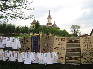 traditional handcraft and monastery - Romania