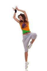 modern ballet dancer posing