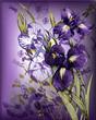 Quadro eps10 bouquet of blooming irises